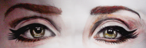 Lana's eyes by DeadlyAngel-Drawings