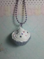 Purple Cupcake Sweets Necklace by xxsquigglesxx