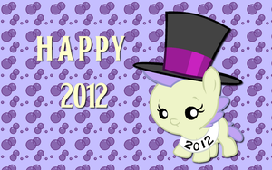 Happy 2012 Cream Puff WP by AliceHumanSacrifice0