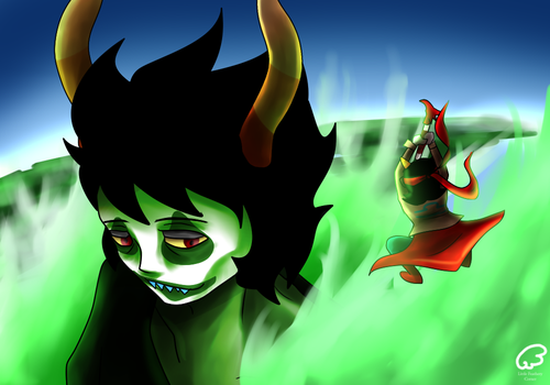 Homestuck-ATTACK ON GAMZEE by lucalucario