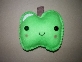 Kawaii Green Apple Plushie by kiddomerriweather