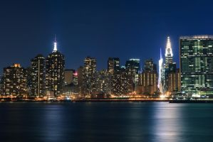 Good Night New York by Valentin-Stanciu