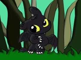 Baby Toothless by MusicWolf3379