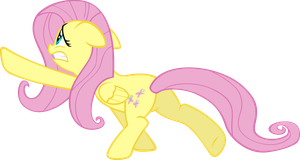 Fluttershy Escaping by Sairoch