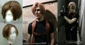 Leon Kennedy Wig Commission by EmmyLou
