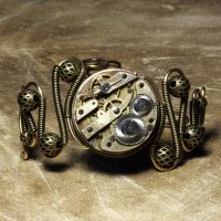 Steampunk Bracelet X by CatherinetteRings