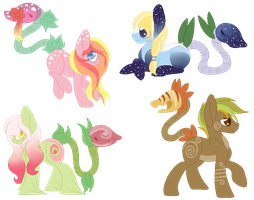 Plant Pony COLLAB Adopts [CLOSED] by Fluffle-Muffins