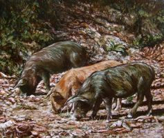 Three little pigs by delph-ambi