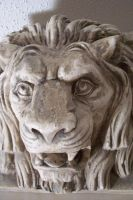 View of Lion Head Statue by paintresseye