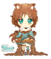 Comm: Chibi Fox - New Outfit by RinaShuu