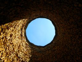 Hole in the ceiling by Agatje