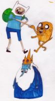 Adventure Time with markers by hatoola13