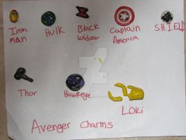 Avenger Charms by asgardiangoddess