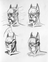 Batman Sketches by NickBentonArt