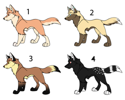Wolf Adoptables Batch 1 (Closed) by Samoki