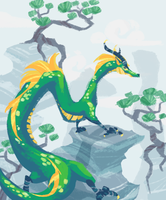 Mountain Dragon by Bedupolker