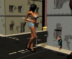 Giant in the street by Fembod3d