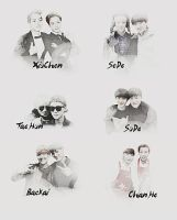 EXO Graphics. What's your favorite pairing? Part.1 by kamjong-kai