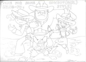 Xiaolin Kung Fu Cowboys by Blazesnbreezes