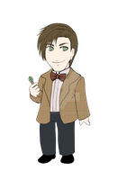 11th doctor Chibi by Yunuyei