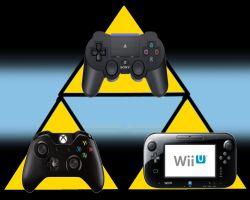 Triforce Background of Next Gen Consoles by Jaydi-Man