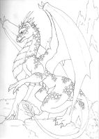 Uncolored Dragon by mrinx