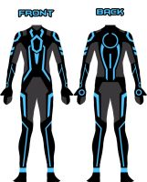 My new Tron suit design by Xelku9