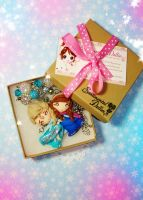 Disney Frozen Elsa and Anna dual necklace by SentimentalDolliez