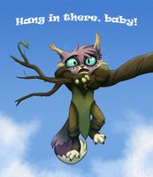 Hang in there, khajiit! by GalooGameLady