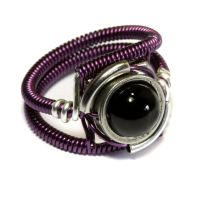 Cyberpunk Jewelry - RING - Purple by CatherinetteRings