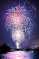 New year firework by PraguePhotography