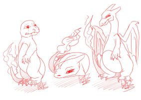 Charmander family by TheArtyMadCow