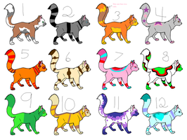More Free Cat Adopts -OPEN- by CatAndWolfAdopts112