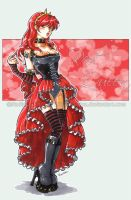Art Trade - Red Queen by Nadou