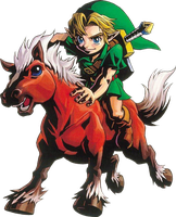 Kid Link and Epona by ToonKidLink