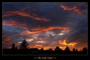 Valle Vidal Sunset 1 by Zoomwafflez