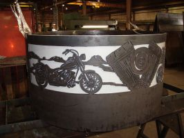 Steel Harley fire ring by BROKENHILL