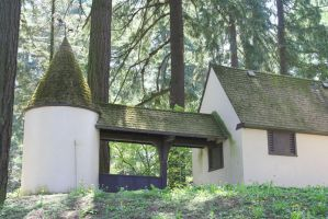Cottage with Turret I by KelbelleStock