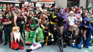 DC Female Superheroes and Villains at AX 2013 by trivto