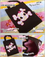 Cute Skull Tote Bag by shiricki