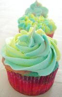 Tie-dye Cupcakes III by syntheticshley