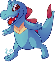 Totodile - [Pokedex Project] by Riboo