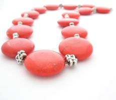 Red Magnesite Stone Necklace by MoonlightCraft