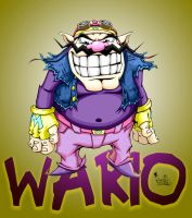 wario with bg by pnutink