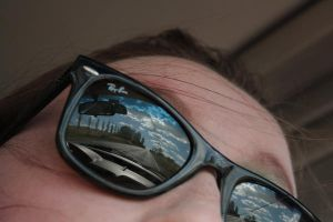 Road reflects in my Ray Ban's by sydneysomething
