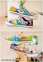 Adventure Time Shoes by Bobsmade