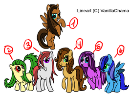 Pony adoptables 1-ALL TAKEN!! by Karr-Adoptables
