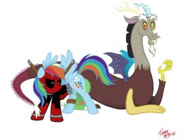 Deadpool Dash and Discord by TerryBlas