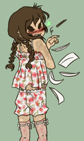 Kenneth - Cutie Patooty In A Floral Print Nighty by EuchredEuthanasia