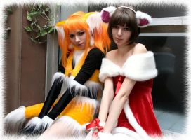 Crazy Fox and Santa Mouse by Ryoko-demon